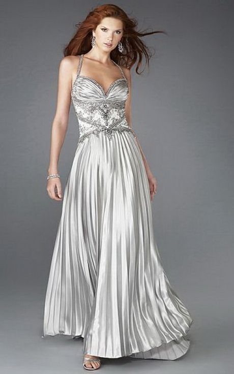 Vestidos de noche color silver