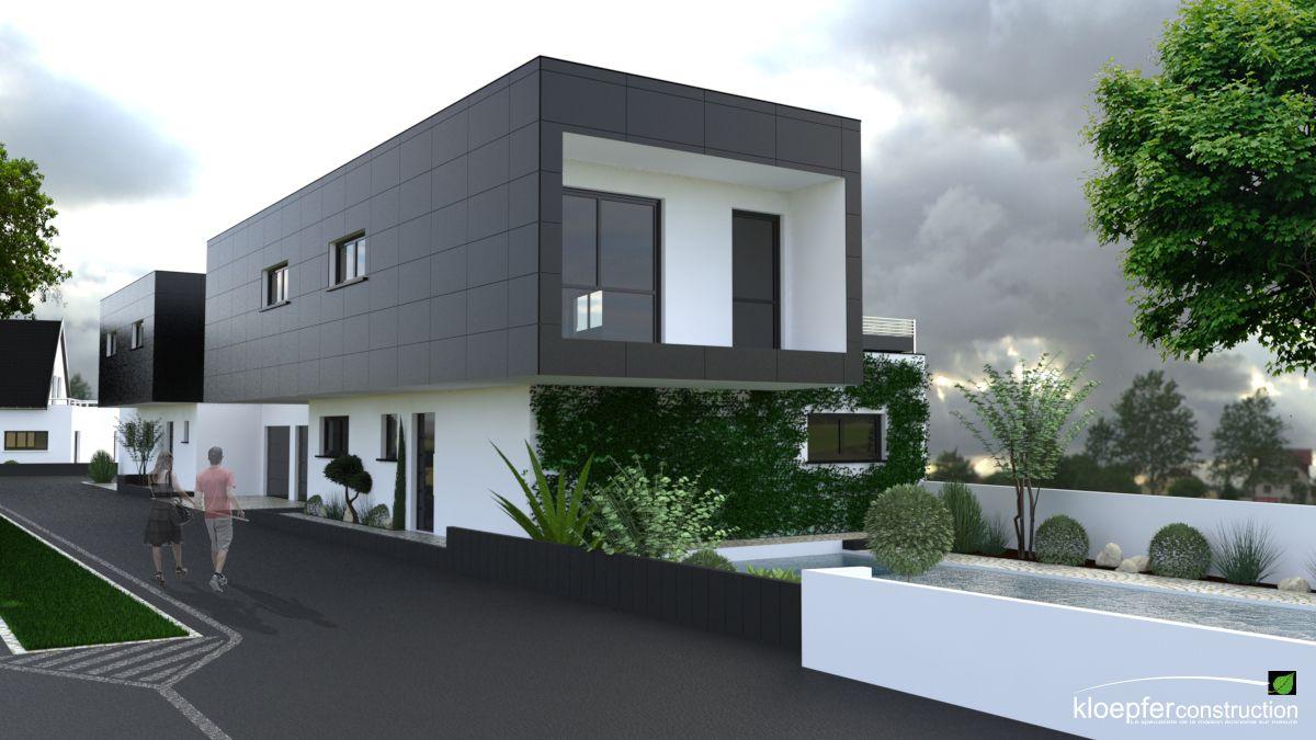 r sultat de recherche d 39 images pour maison moderne sur terrain en longueur architecture. Black Bedroom Furniture Sets. Home Design Ideas