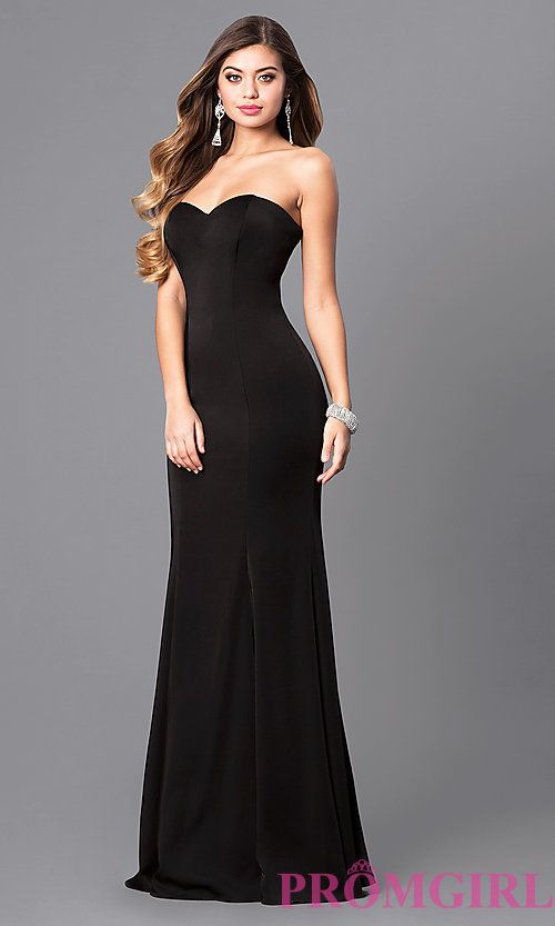 d3f0f77cacf Image of long strapless prom dress with trumpet silhouette. Style  DQ-9607  Front Image