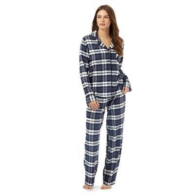 online shop differently select for best Lounge & Sleep Navy checked pyjama set | Debenhams | Hey! PJ ...