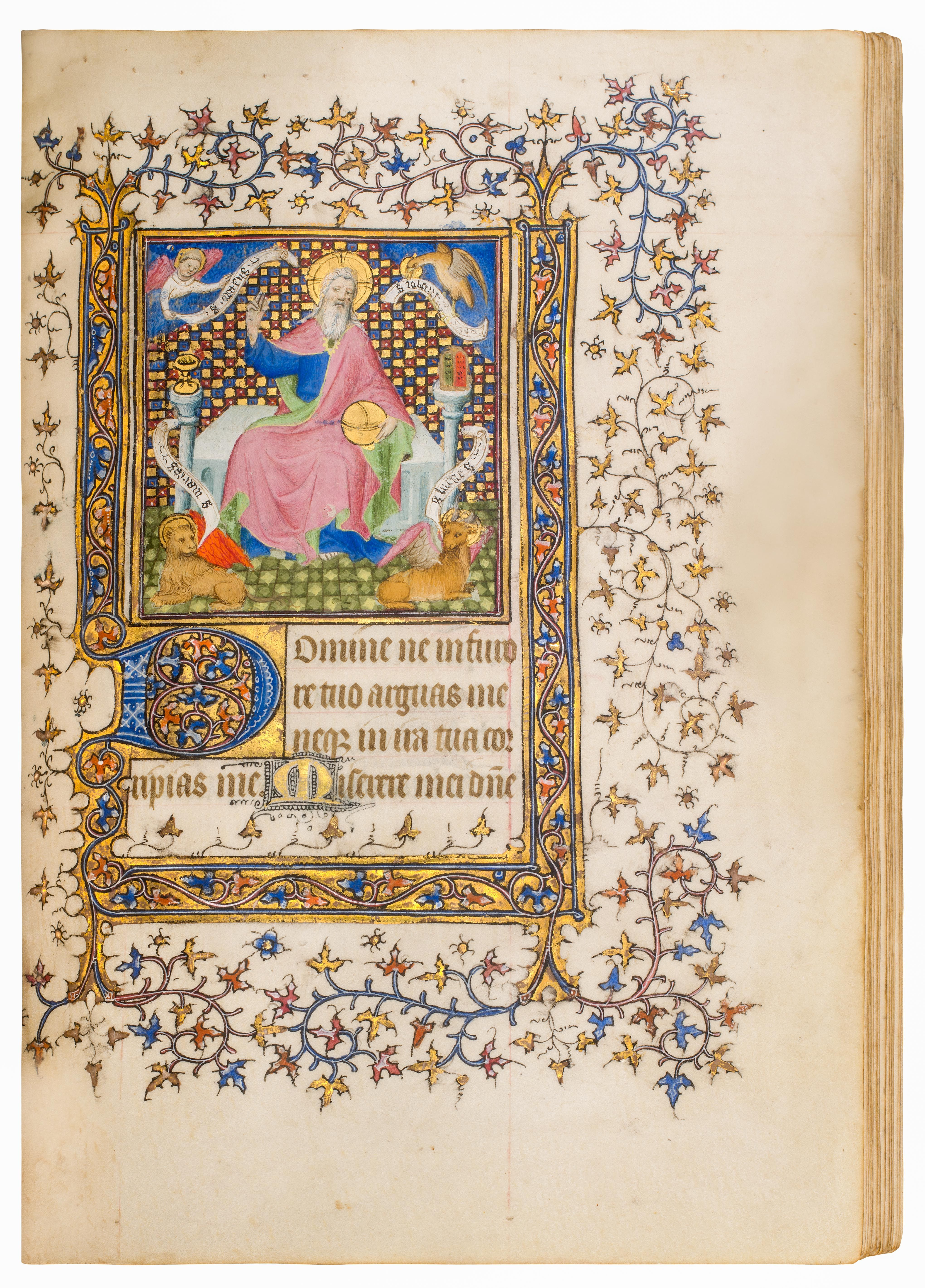 This Elegant Book Of Hours Includes 30 Outstanding Miniatures With Full Borders In Gold Red And Blue Book Of Hours Illuminated Manuscript Medieval Manuscript