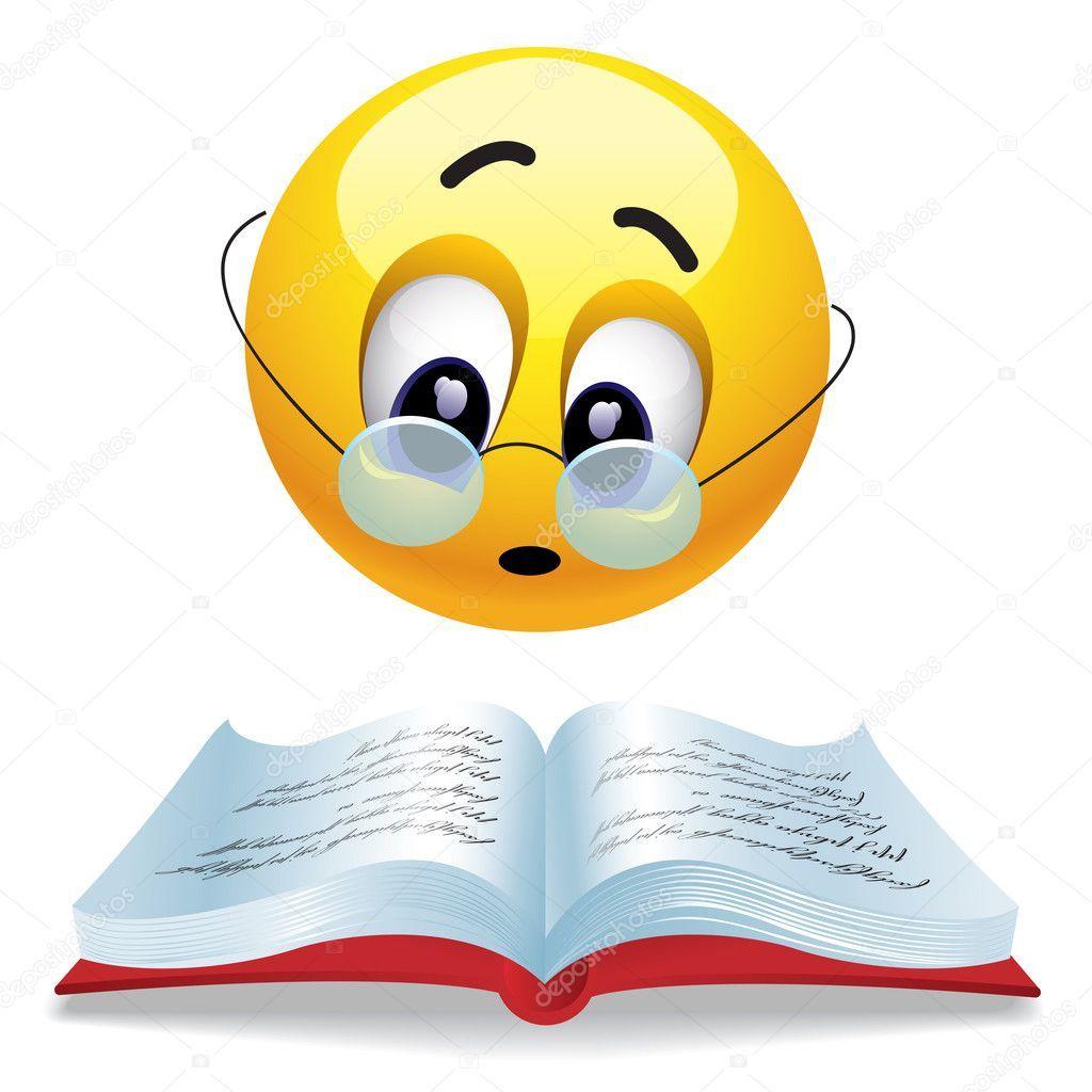 Balle souriant livre avec des lunettes de lecture | Emoji drôle, Emoji  mignon, Images emoji