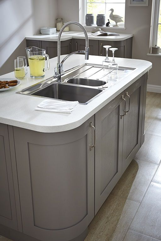 Curved Kitchen Unites Are The Height Of Style Providing An Ergonomic Flow To A Kitchen Want More Kitchen Curved Kitchen Kitchen Fittings House Design Kitchen