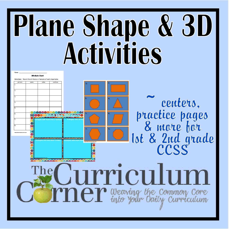 Plane Amp 3d Shapes Activities
