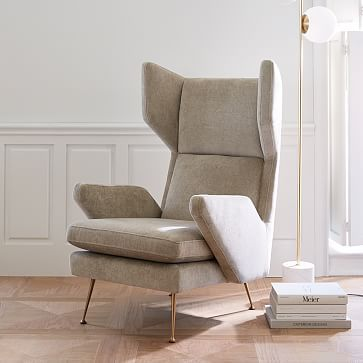 Marcelle Mid Century Wing Chair #westelm