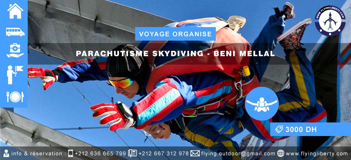 VOYAGE ORGANISE Parachutisme Skydiving > BENI MELLAL