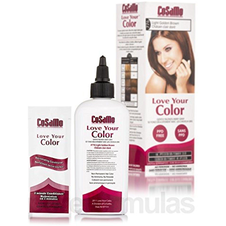 Cosamo love your color non permanent hair color 776 light golden cosamo love your color non permanent hair color 776 light golden brown 3 oz nvjuhfo Choice Image