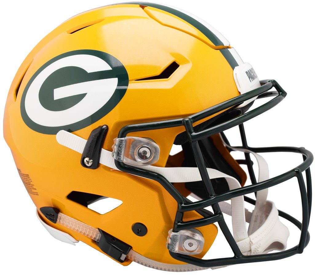 Green Bay Packers Helmet Riddell Authentic Full Size Speedflex Style Green Bay Packers Helmet Green Bay Packers Football Helmets