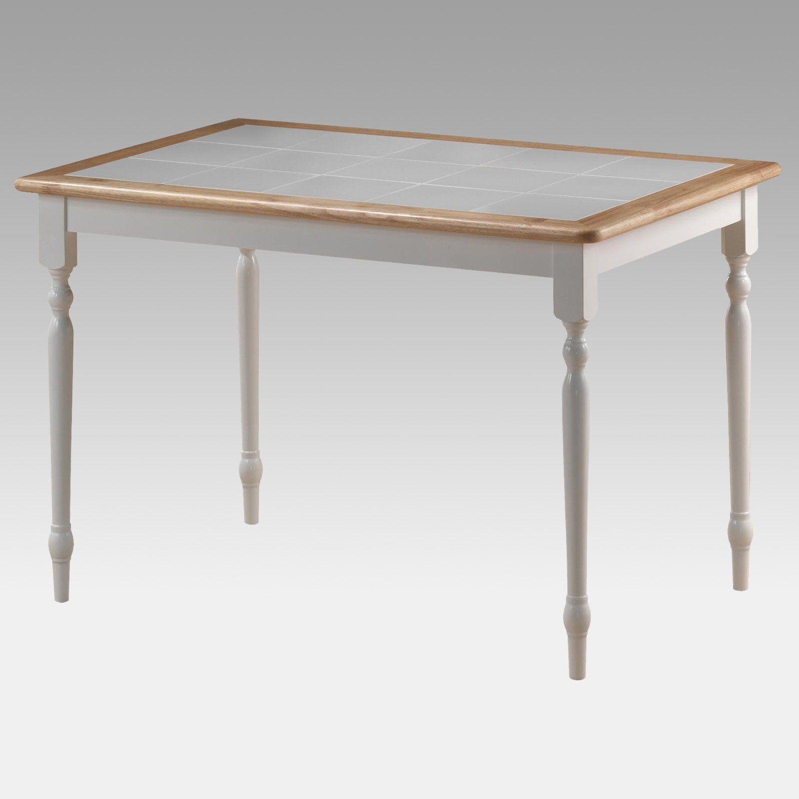 tile top dining table. Boraam Farmhouse Tile Top Rectangular Dining Table - 30 X 45 In. 70100 I