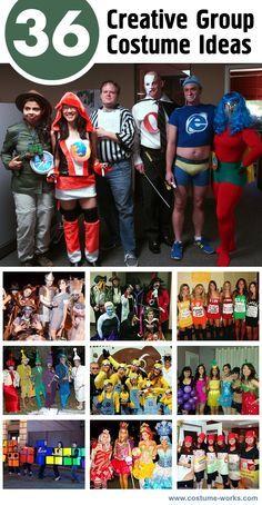 36 Creative Group Halloween Costume Ideas  sc 1 st  Pinterest & 36 Creative Group Halloween Costume Ideas | Group halloween ...