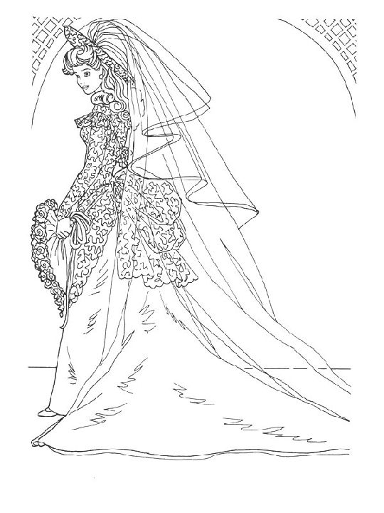 Coloring Pages Wedding Dresses Wedding Coloring Pages Barbie Coloring Barbie Coloring Pages