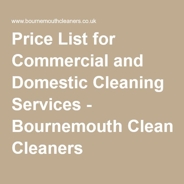 price list for commercial and domestic cleaning services bournemouth cleaners