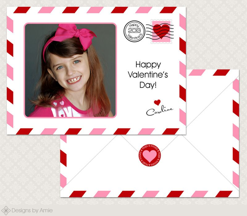 V Mail Valentine Card Or Sticker 5x7 And 4x5 5 Vc028 Valentines Cards Cards Photoshop Template