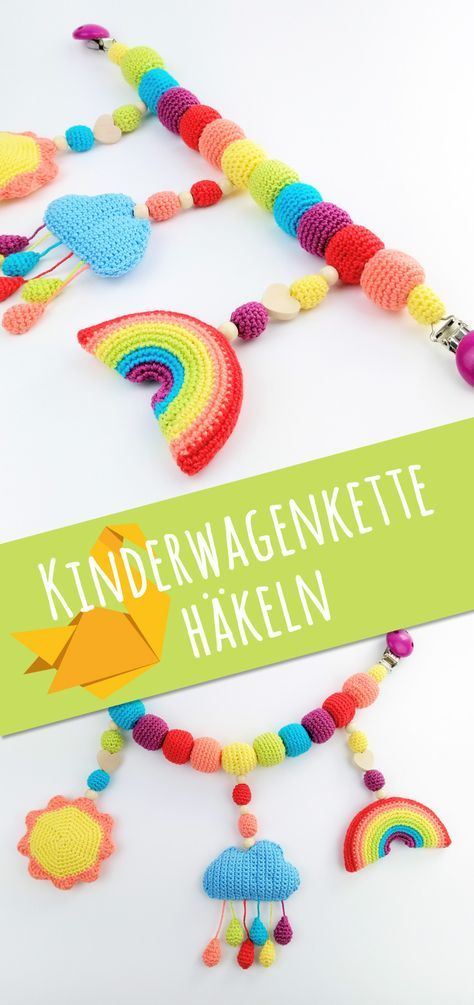 Kinderwagenkette selber häkeln: kostenlose Anleitung - Talu.de