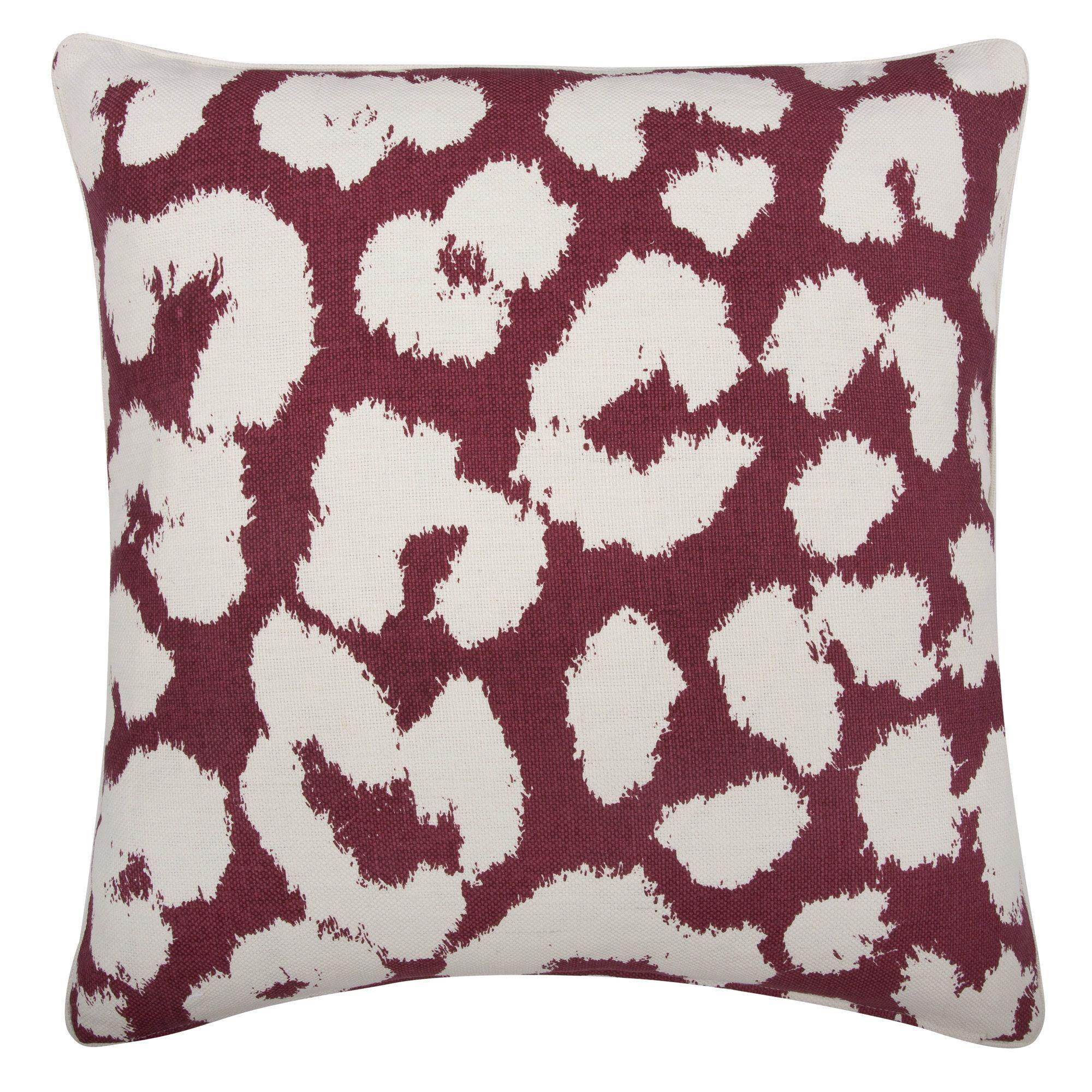 Fragments Leopard Cotton Throw Pillow