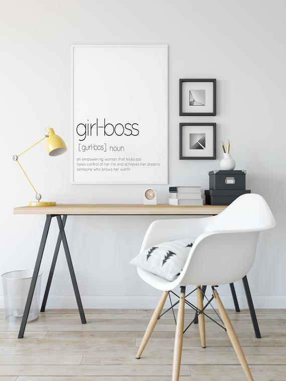 Boss Office Room Design Wall Art