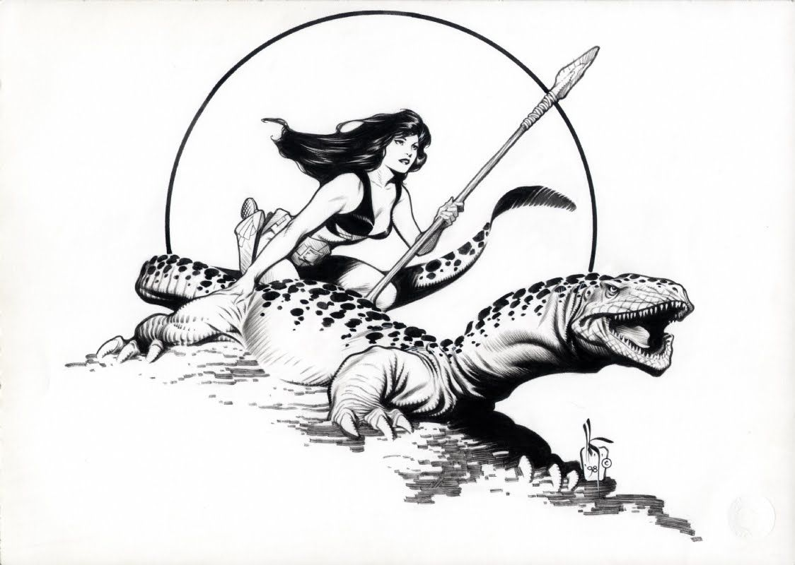Hannah Dundee and friend by Mark Schultz.