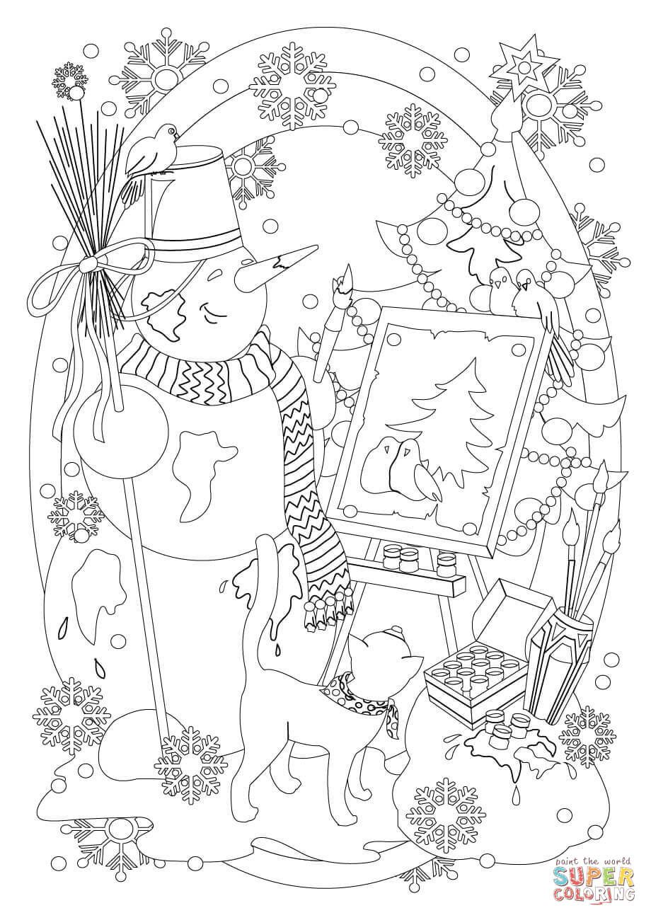 Pin by Kathy Naraghi on Christmas to Color | Coloring pages ...