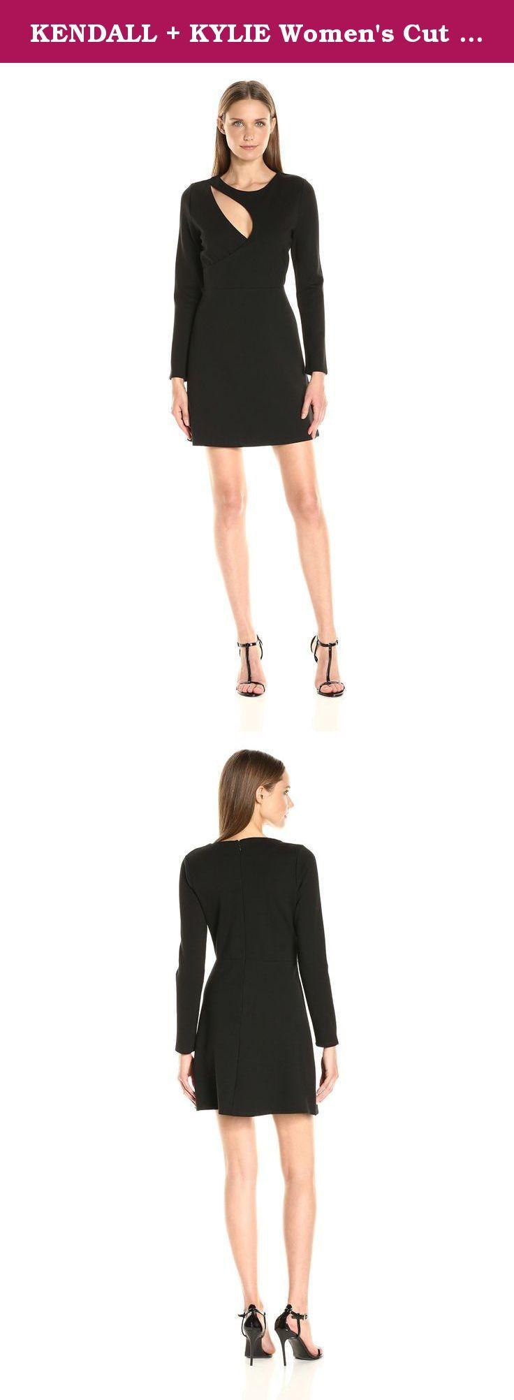 Kendall kylie womenus cut out kit dress black m long sleeve