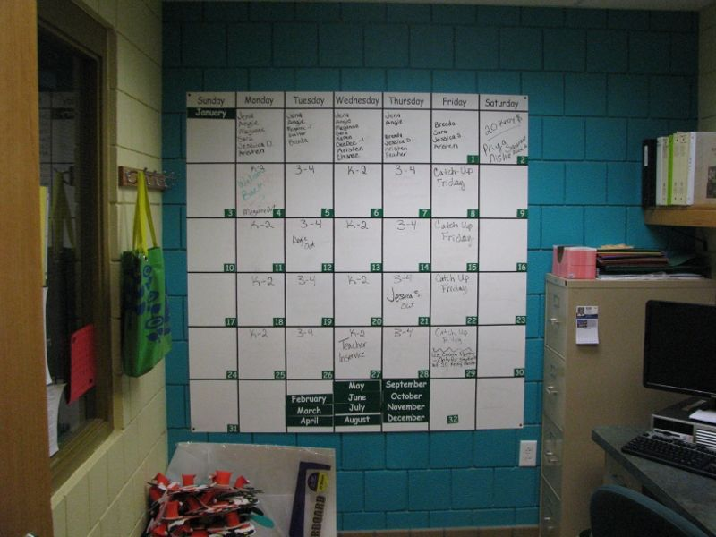Giant Wall Calendar Dry Erase And Magnetic If Only There Were