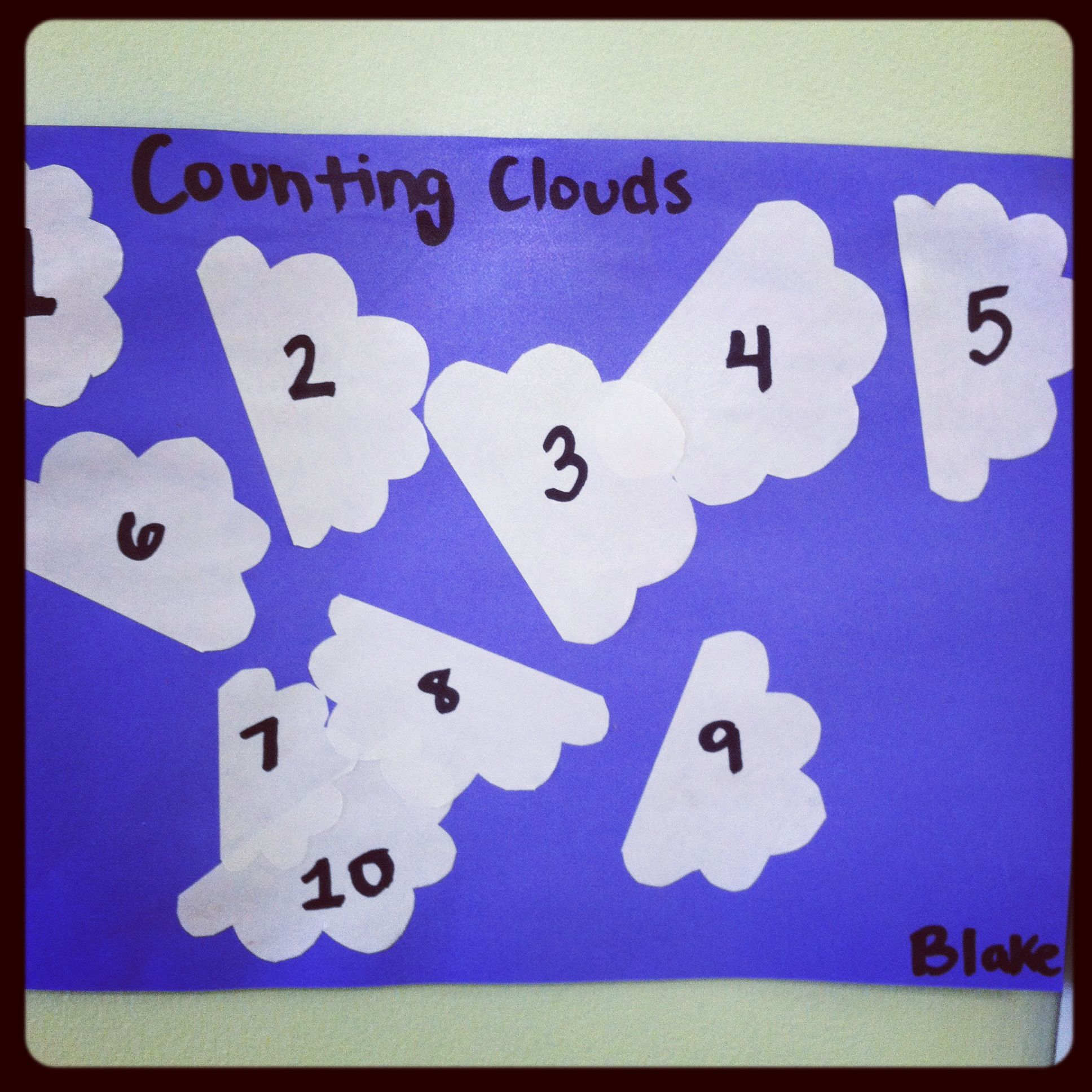 Counting Clouds The Kids Get To Glue Clouds Wherever