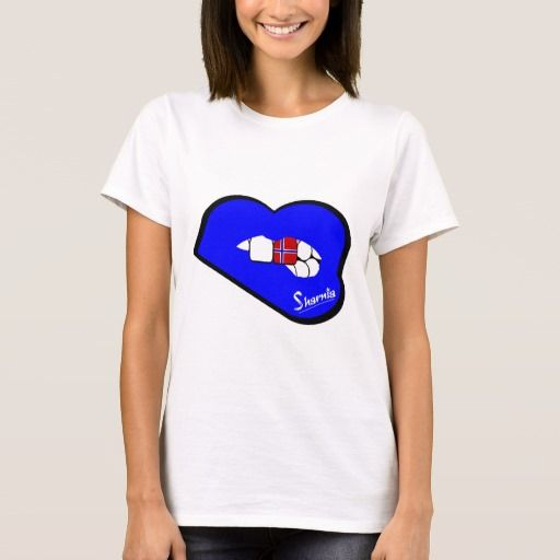 Sharnia's Lips Norway T-Shirt (Blue Lips). Available in different styles & colours!