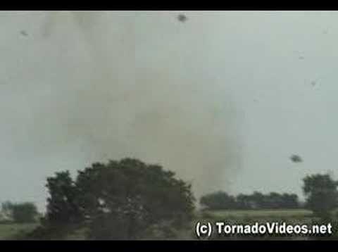 Incredible Tornado Video - Mulvane, KS Violent White Rope -