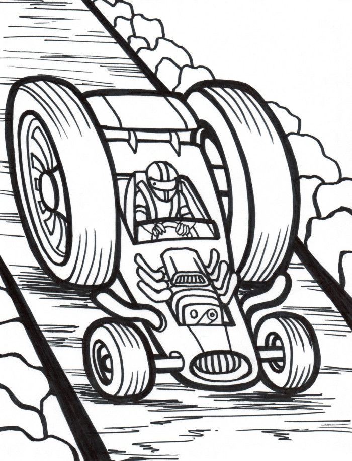 Hot Road Race Car Coloring Page