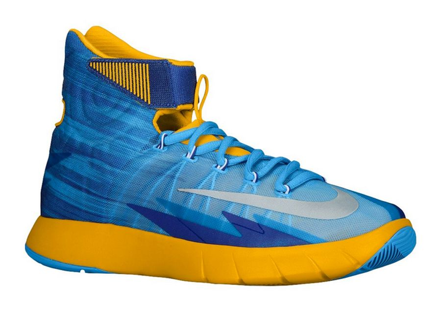 newest 065ab 2d4db Nike Zoom Hyperrev 2014 Vivid Blue Pure Platinum-University Gold