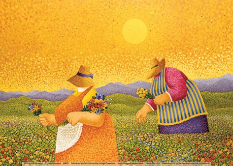 Picking Wildflowers Prints by Lowell Herrero at AllPosters.com