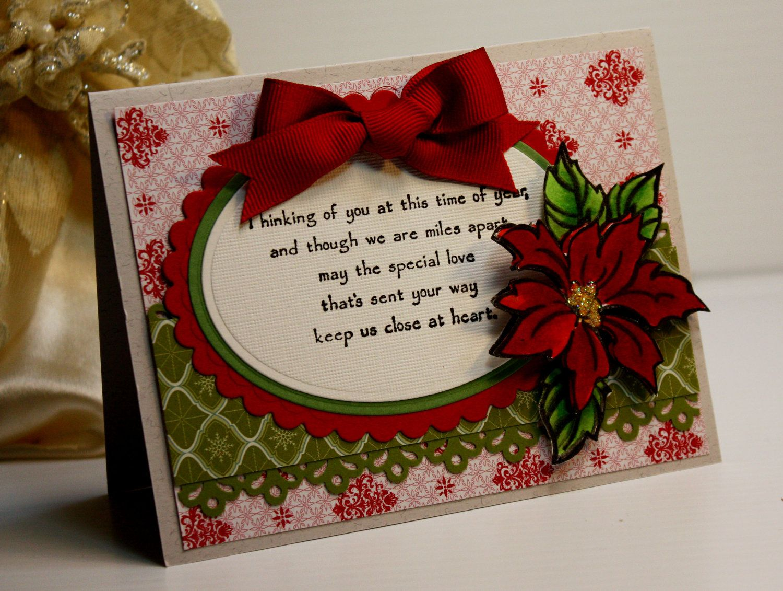 Christmas Card Handmade Greeting Card Thinking Of You At This