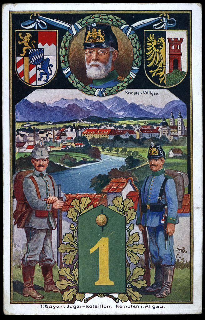 Koniglich Bayerisches 1 Jagerbataillon German Army History Wwi
