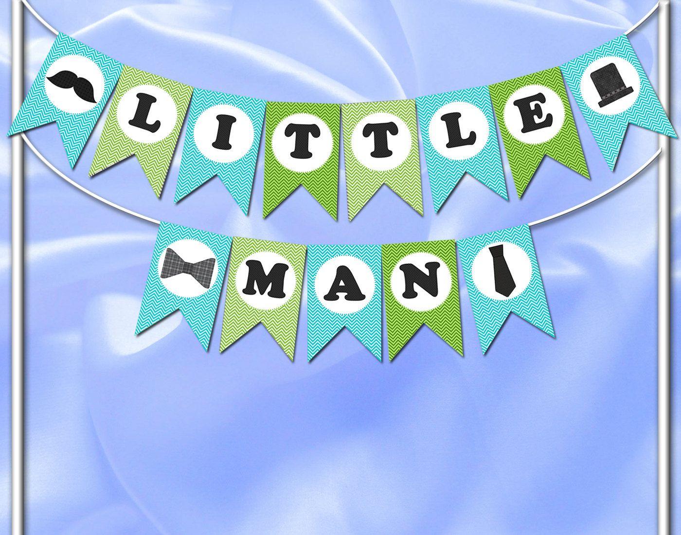 diy printable banner little man banner digital banner baby boy