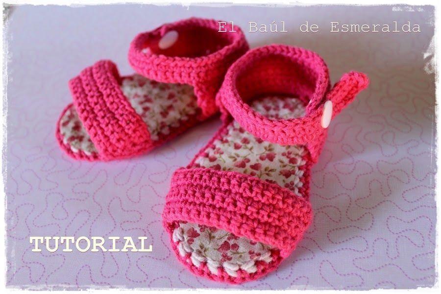 Tutorial: sandalias para bebé DIY | Para bebés, Sandalias y Bebé
