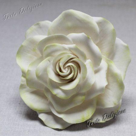 #Large #Rose #Flower #Gumpaste #Cake #Taart #topper #Decoration #cold #porcelain #koud #porselein