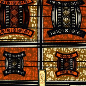 African Print #518 brown | Unique Spool | African print