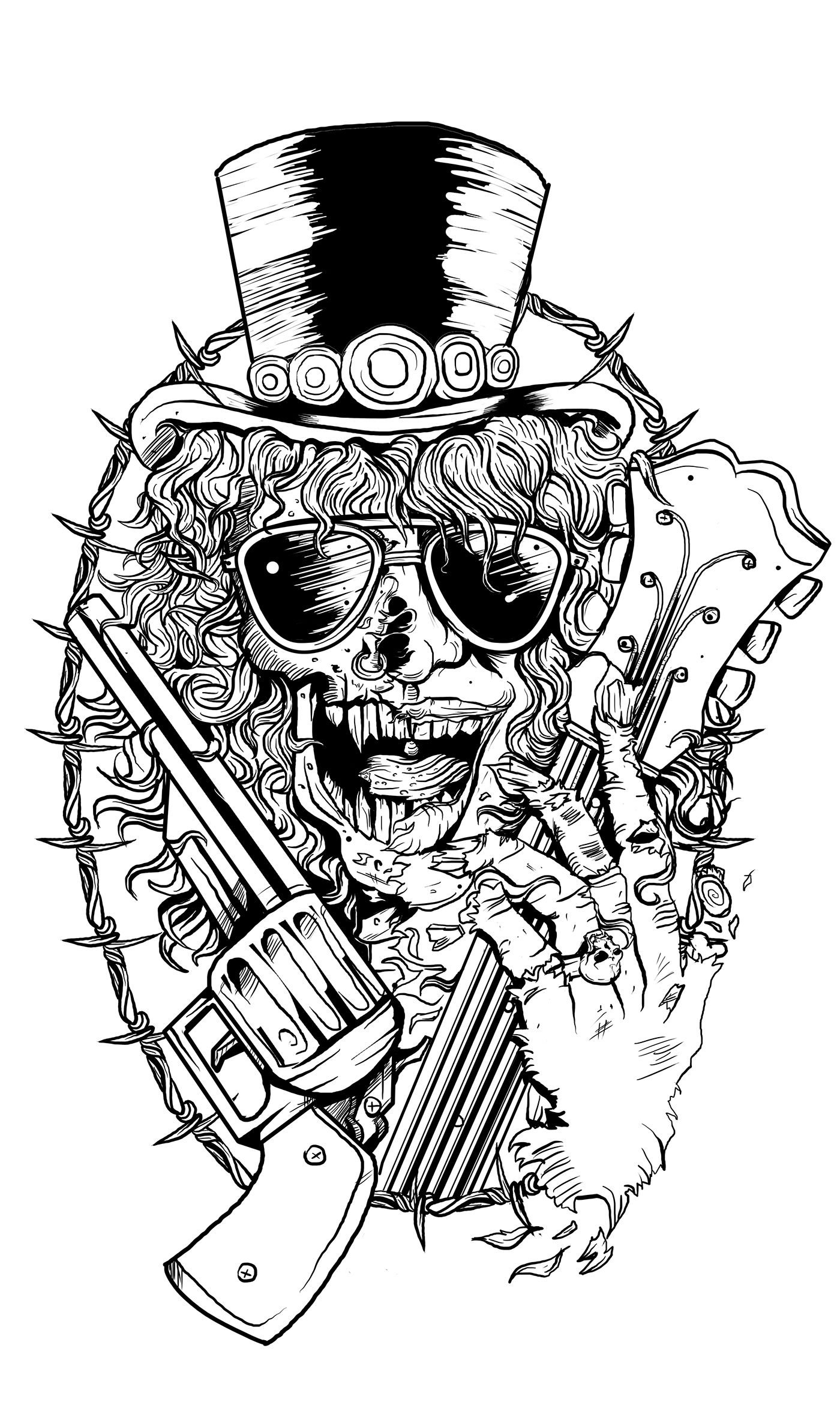 SLASH TShirt on Behance Ideias de tatuagens, Artes