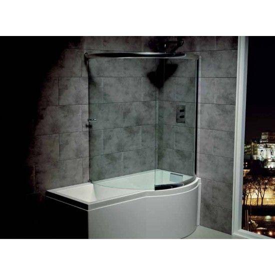 complete wrap around bath screen designed for the carron prado celsius showerbaths