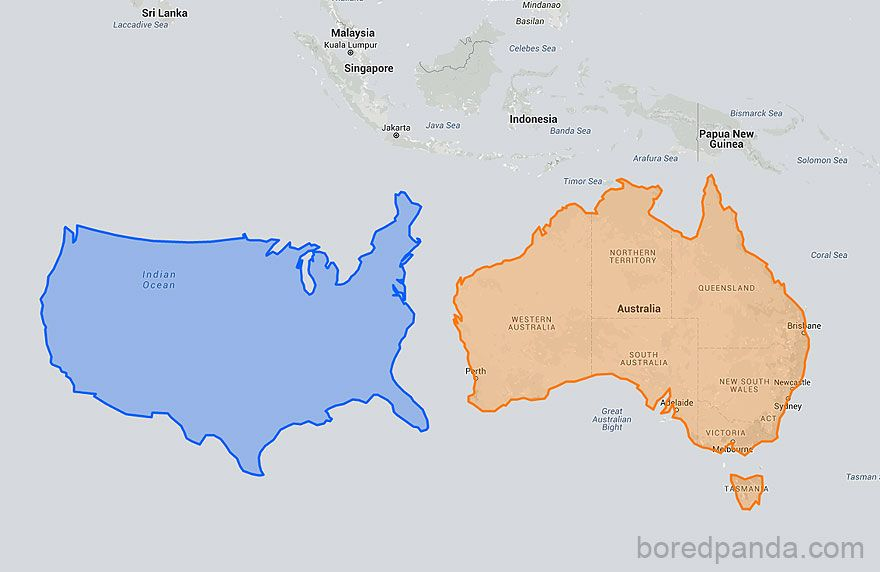 US Moved Down Next To Australia Looks