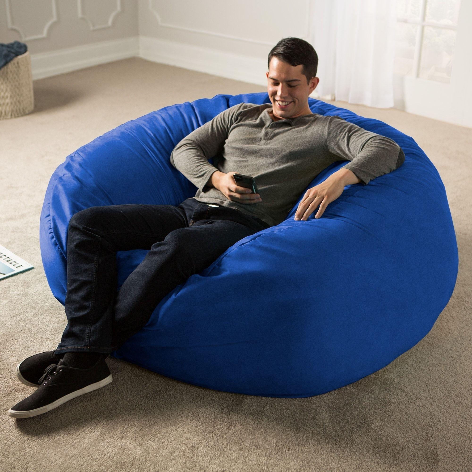 Jaxx 5 Ft Giant Bean Bag Chair Black Jaxx Bean Bags Bean Bag Chair Big Bean Bag Chairs Giant Bean Bag Chair