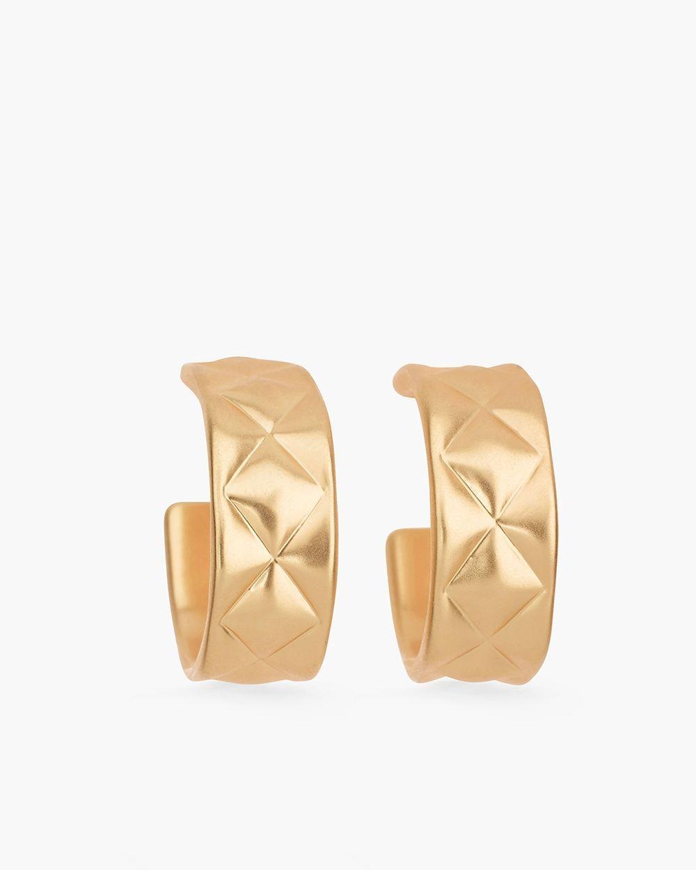 Chico's Women's Fleur Hoop Earrings, Gold, Size: One Size