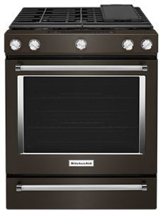 be bold with black stainless steel appliances kitchenaid rh pinterest com