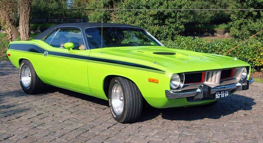 Put De Lime Green Cuda In The Garage And Call Me Moornninn Whoo Hoohoo Reciated By Motorheads Performance Www Musclecarssanantonio