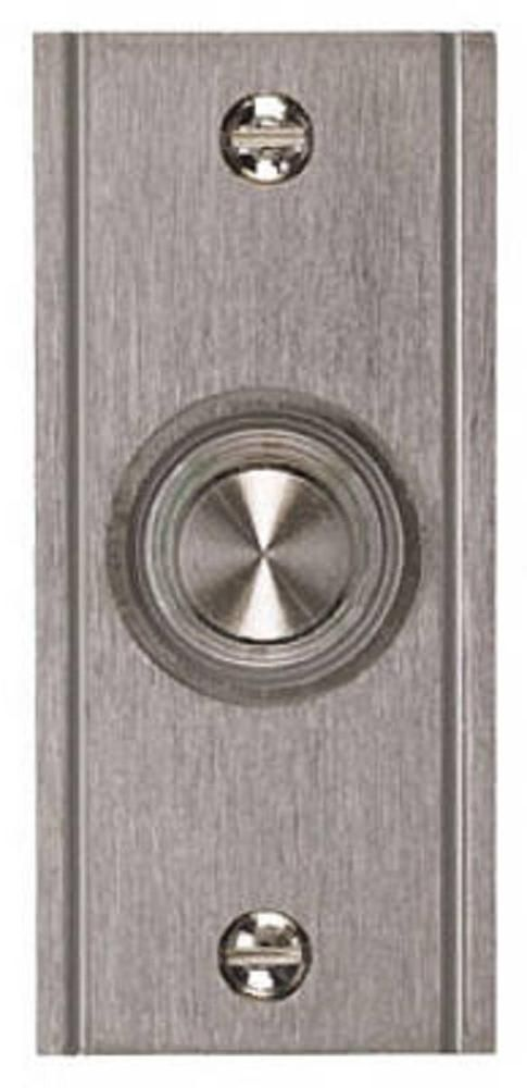 Thomas Betts Lighted Door Bell Button With Satin Nickel Finish Dh1633l Doorbell Antique Pewter Bay Lights
