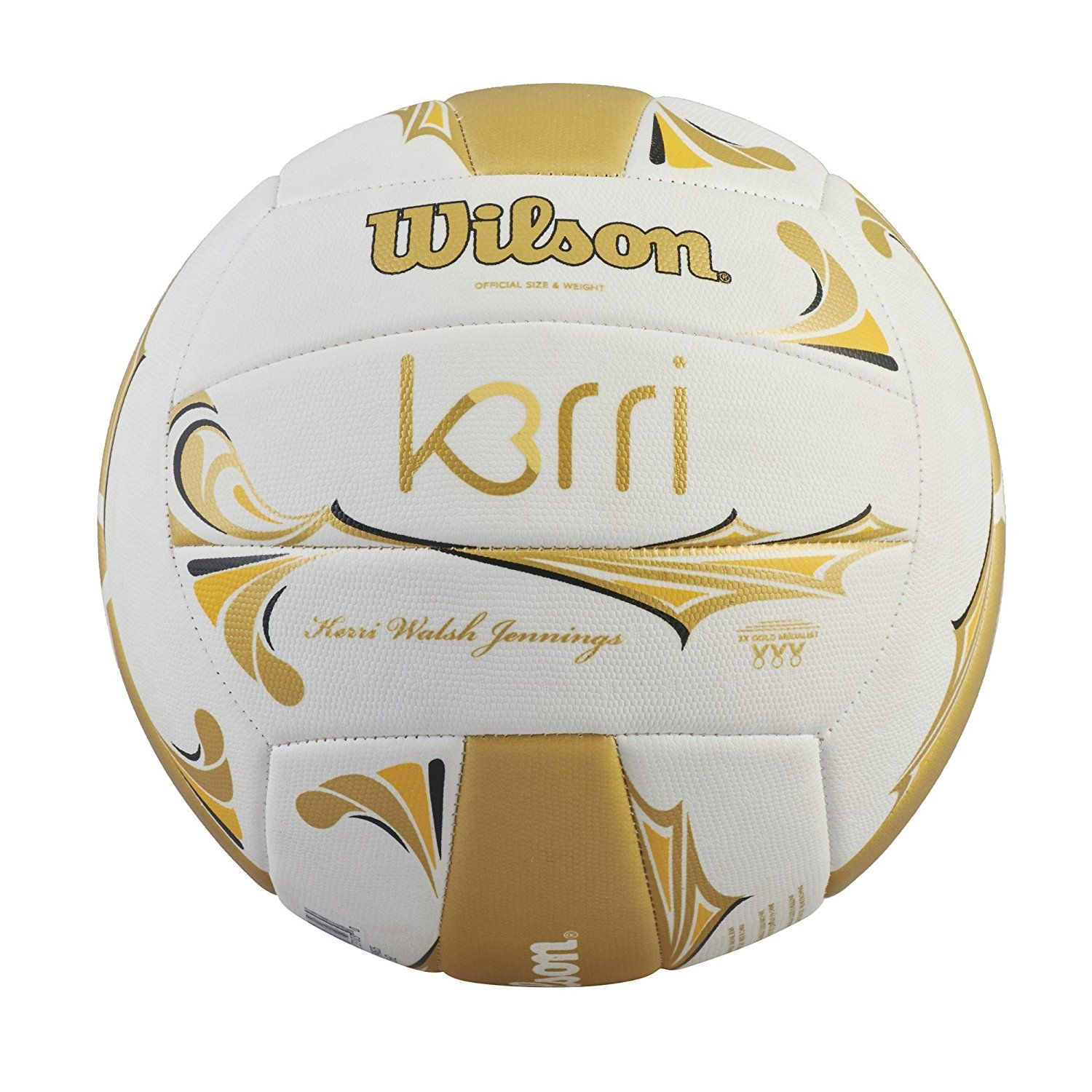 Amazon Com Wilson Kerri Walsh Jennings Premium Gold Ball Sports Amp Outdoors Wilson Volleyball Kerri Walsh Jennings Volleyball Skills