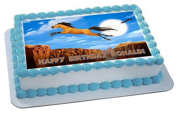 Spirit Stallion Of The Cimarron 3 Edible Birthday Cake Topper OR