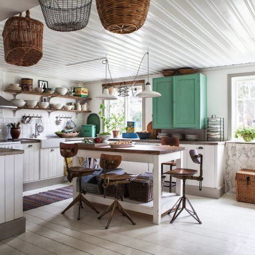 Una Cocina Shabby Chic For The Home Pinterest Kitchens - Cocina-shabby-chic