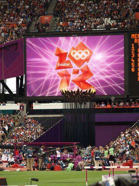 Big screen in Olympic stadium by Sweppy, via Flickr