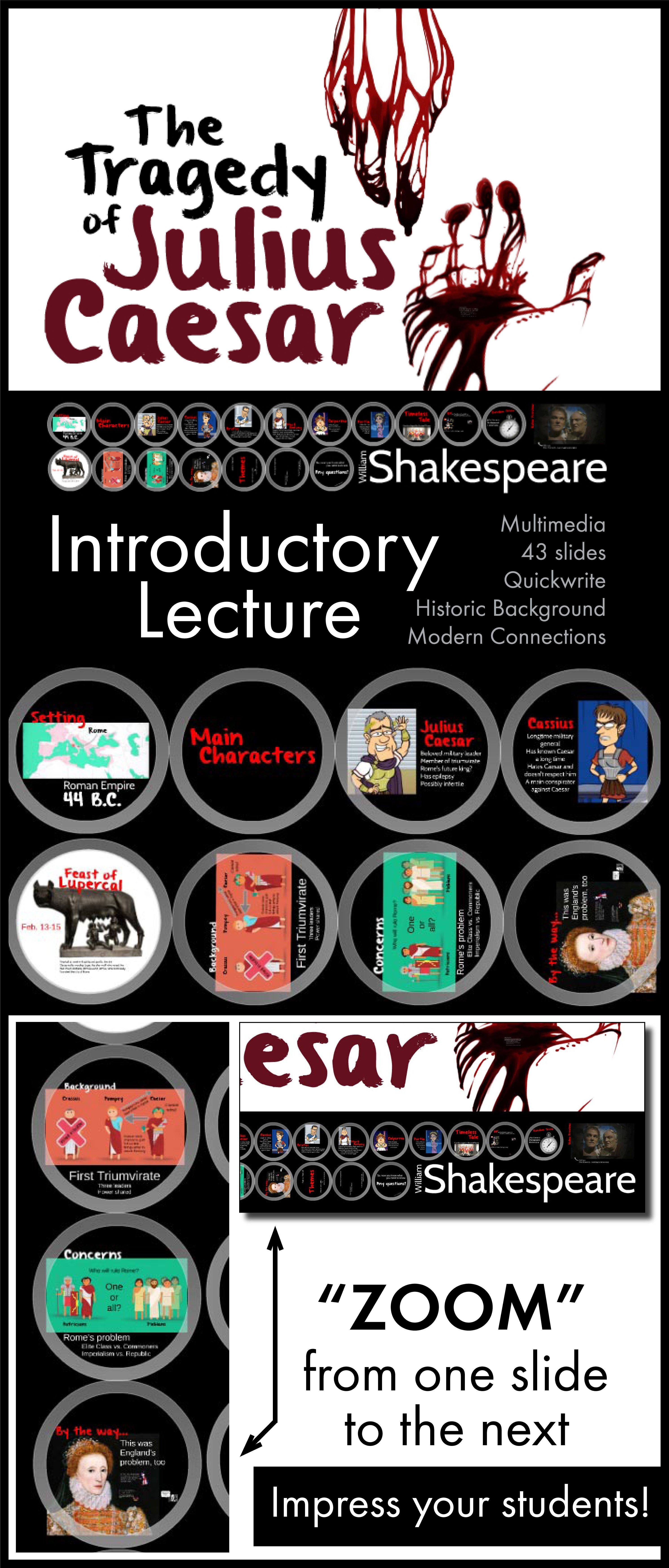 Tragedy Of Julius Caesar Dazzling Lecture To Launch