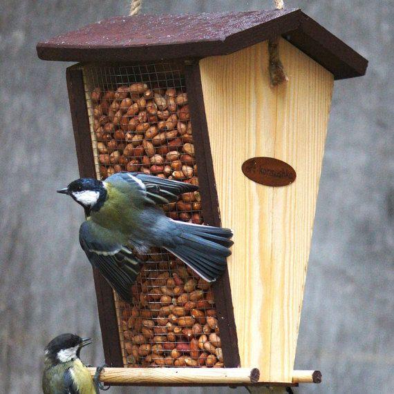 Bird Feeder Outdoor Modern Peanut Seed Feeder Bird Feeder Etsy Bird Feeders Bird Feeder Tutorial Hanging Bird Feeders